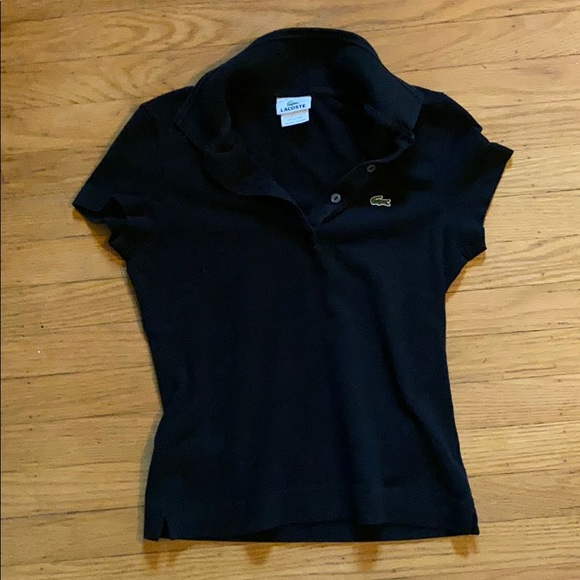 Lacoste Tops - Black Lacoste shirt sleeve polo 36 small